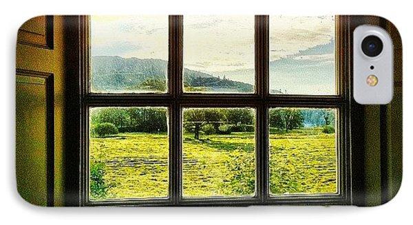 #landscape #window #beautiful #trees IPhone Case