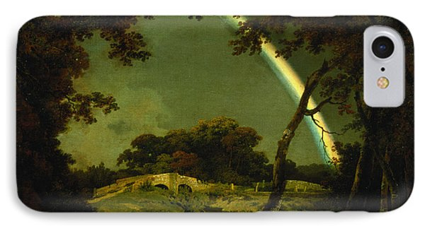Landscape With A Rainbow IPhone Case by Joseph Wright of Derby