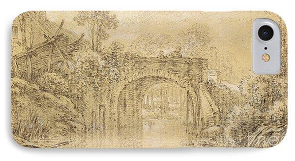 Landscape With A Rustic Bridge IPhone Case