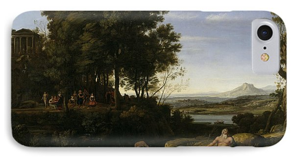 Landscape With Apollo And The Muses IPhone Case