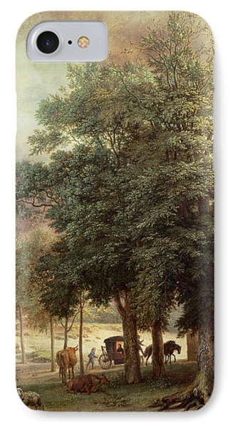 Landscape With Carriage Or House Beyond The Trees IPhone Case by Paulus Potter
