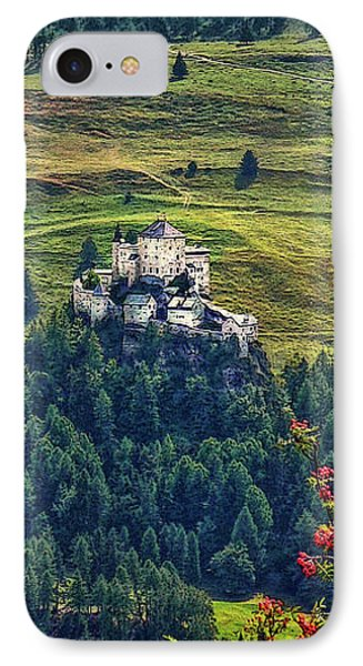 IPhone Case featuring the photograph Landscape With Castle by Hanny Heim