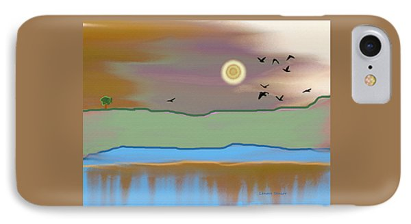 Landscape With Crows - Color IPhone Case by Lenore Senior