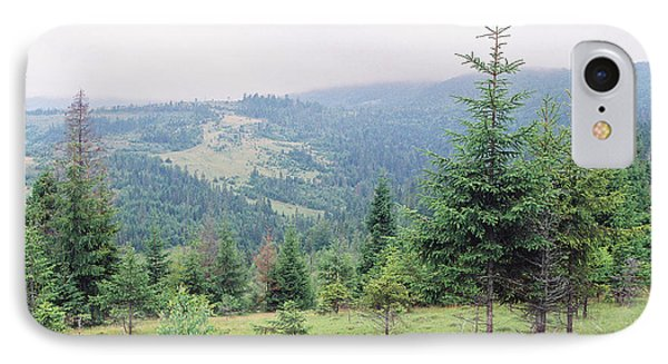 Landscape With Firs IPhone Case