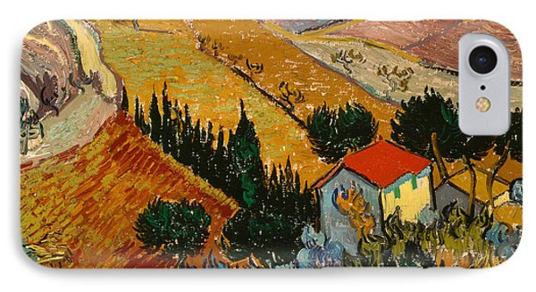 Landscape With House And Ploughman Phone Case by Vincent Van Gogh