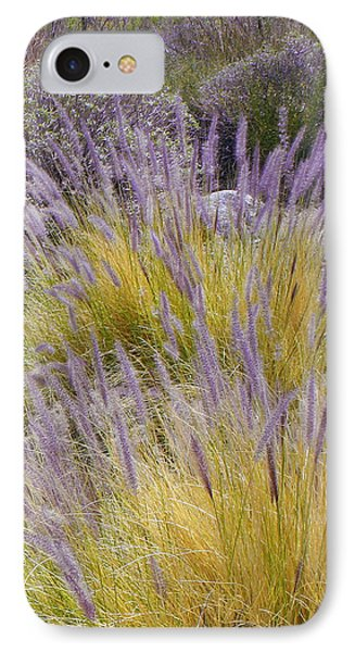 Landscape With Purple Grasses Phone Case by Ben and Raisa Gertsberg