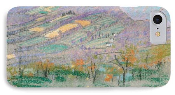 Landscape With Purple Mountains  IPhone Case by Arthur Bowen Davies