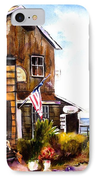 IPhone Case featuring the painting Langley Washington by Marti Green