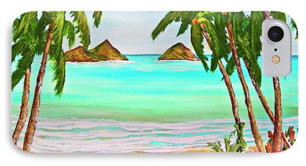 Lanikai Beach Oahu Hawaii #358 Phone Case by Donald k Hall