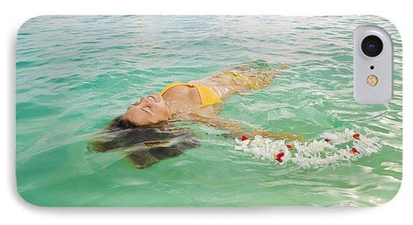Lanikai Floating Woman Phone Case by Tomas del Amo - Printscapes