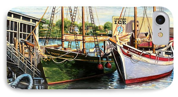 Lannon And Ardelle Gloucester Ma IPhone Case by Eileen Patten Oliver