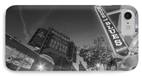 Lansdowne Street Fenway Park House Of Blues Boston Ma Black And White IPhone Case