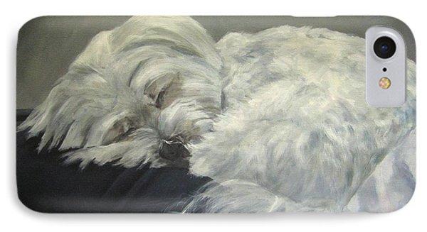 Lap Dog IPhone Case by Elizabeth Ellis