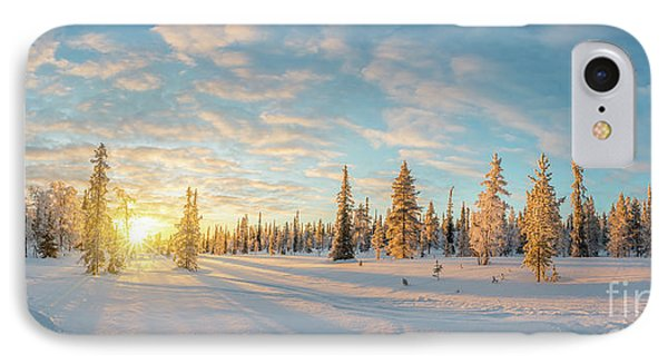 IPhone Case featuring the photograph Lapland Panorama by Delphimages Photo Creations