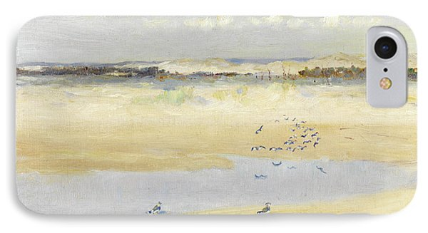 Lapwings By The Sea IPhone Case by William James Laidlay
