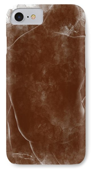 Large Man Backside Phone Case by Peter J Sucy