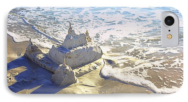 Large Sandcastle On The Beach Phone Case by Skip Nall