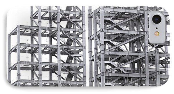 IPhone Case featuring the photograph Large Scale Construction Project With Steel Girders by Yali Shi