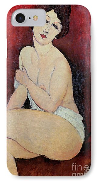 Large Seated Nude Phone Case by Amedeo Modigliani