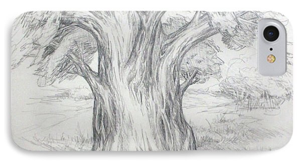 Large Shady Tree Phone Case by Ruth Renshaw