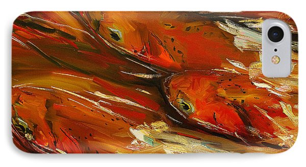 Large Trout Stream Fly Fish Phone Case by Diane Whitehead