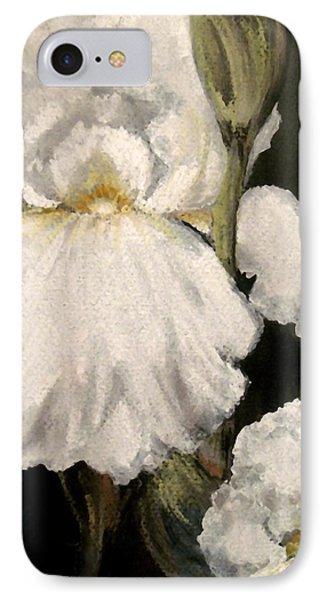 Large White Iris Phone Case by Carol Sweetwood