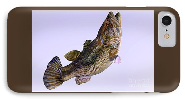 Largemouth Bass Side Profile Phone Case by Corey Ford