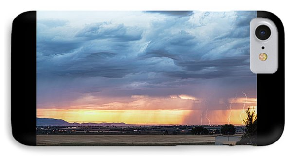 Larimer County Colorado Sunset Thunderstorm IPhone Case by James BO Insogna