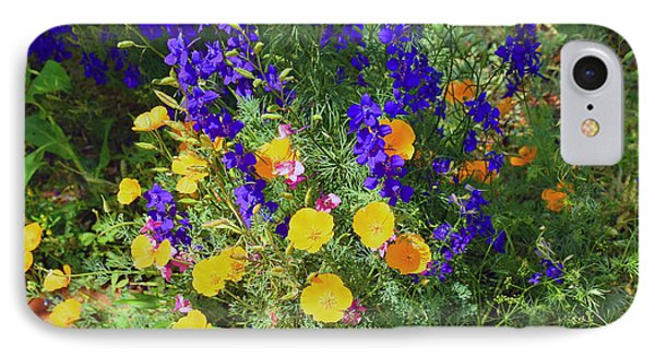 Larkspur And Primrose Garden IPhone Case