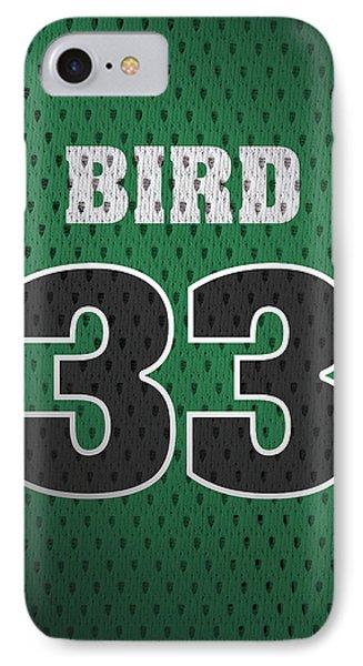 Larry Bird iPhone 7 Case - Larry Bird Boston Celtics Retro Vintage Jersey Closeup Graphic Design by Design Turnpike