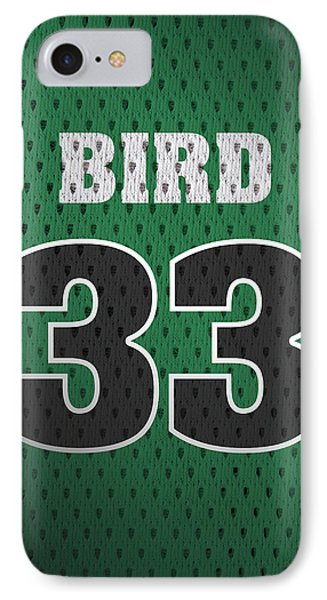 Larry Bird Boston Celtics Retro Vintage Jersey Closeup Graphic Design IPhone 7 Case by Design Turnpike