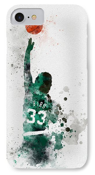 Basketball iPhone 7 Case - Larry Bird by Rebecca Jenkins