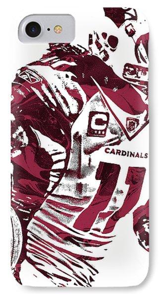 IPhone Case featuring the mixed media Larry Fitzgerald Arizona Cardinals Pixel Art 1 by Joe Hamilton