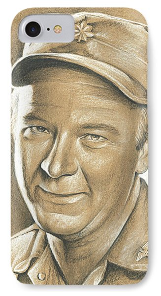 Larry Linville IPhone Case by Greg Joens