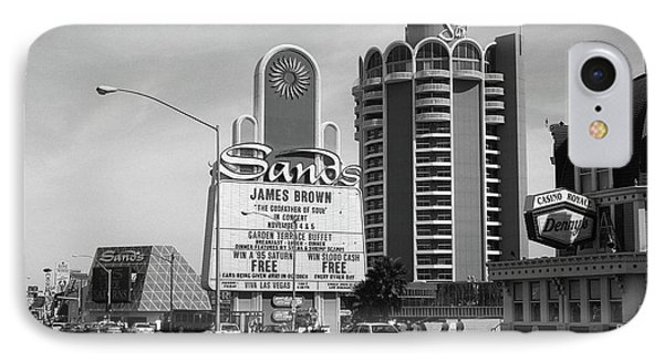 IPhone Case featuring the photograph Las Vegas 1994 #1 Bw by Frank Romeo