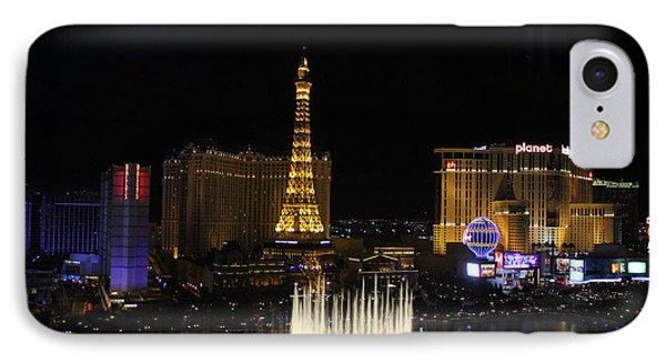 Las Vegas By Night IPhone Case by Wilko Van de Kamp