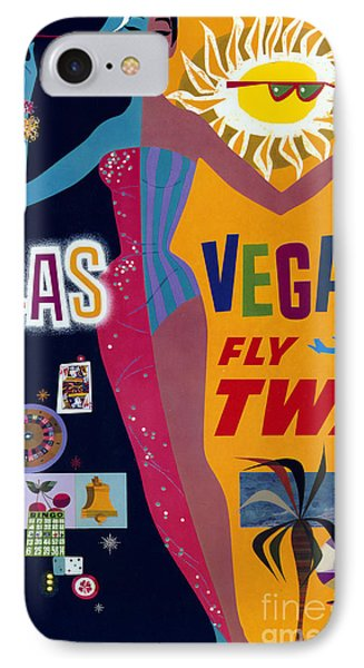 Las Vegas Fly Twa Poster IPhone Case