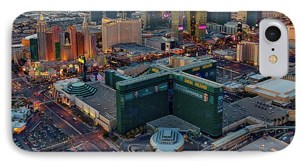 IPhone Case featuring the photograph Las Vegas Nv Strip Aerial by Susan Candelario
