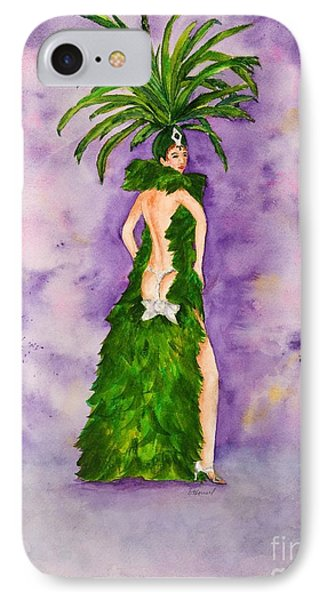 IPhone Case featuring the painting Las Vegas Show Girl by Vicki  Housel