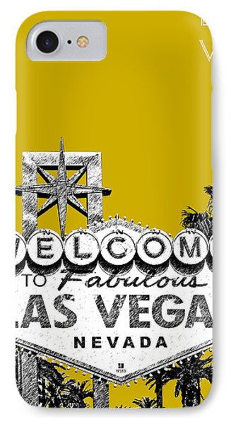 Las Vegas Welcome To Las Vegas - Gold IPhone Case by DB Artist