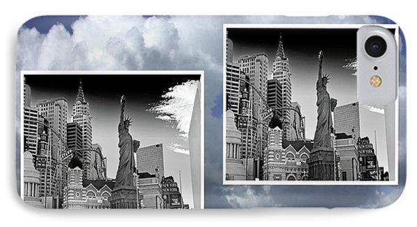 IPhone Case featuring the painting Las Vegas,new York by Athala Carole Bruckner