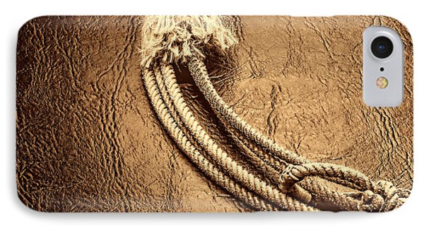 Lasso On Leather IPhone Case by American West Legend By Olivier Le Queinec