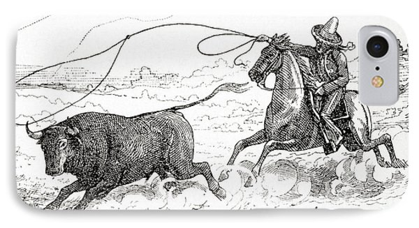 Lassoing A Bull In South America In The 19th Century IPhone Case by American School