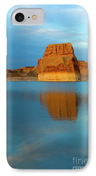 IPhone Case featuring the photograph Last Light At Lone Rock by Mike Dawson