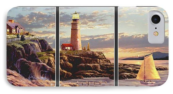 Last Light Split Image IPhone Case by Ron Chambers
