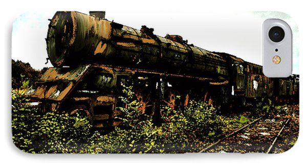 IPhone Case featuring the painting Last Of The 309  Steam Train  by Iconic Images Art Gallery David Pucciarelli