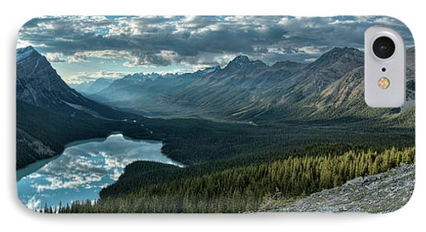 Last Rays Of Light Over Peyto Lake IPhone Case by Sebastien Coursol
