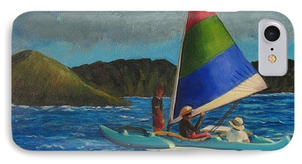 Last Sail Before The Storm IPhone Case by Laurie Morgan