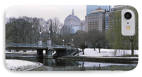 Last Snow Of The Season, Boston Public IPhone Case by Panoramic Images