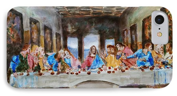 Last Supper. Leonardo Da Vinci. Sketch IPhone Case by Bachmors Artist